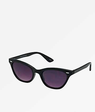 Pointy Wayfarer Black Sunglasses