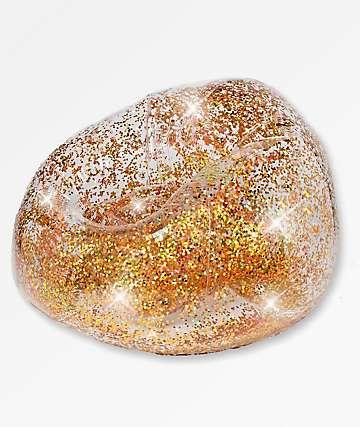 Poolcandy Gold Glitter Blo Chair