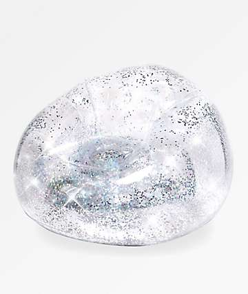 Poolcandy Silver Glitter Blo Chair