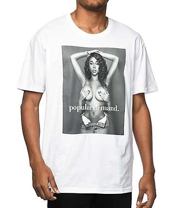 Popular Demand Miss Via White T-Shirt