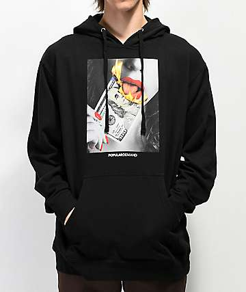 Popular Demand Money Flames Black Hoodie