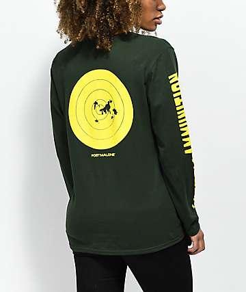 Post Malone Stoney Hunt Club Ammo camiseta de manga larga en verde oscuro y amarillo