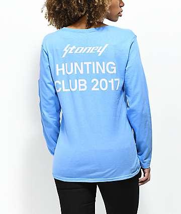 Post Malone Stoney Hunt Club camiseta de manga larga en color lila y morado