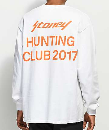 Post Malone Stoney Hunting Club White Long Sleeve T-Shirt