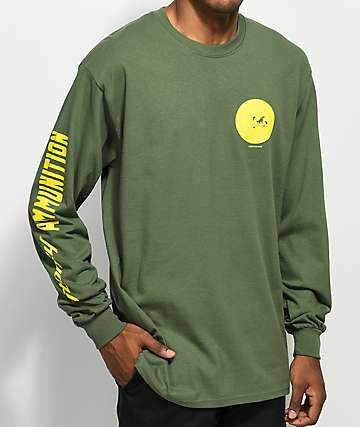 Post Malone Stoney Target Green Long Sleeve T-Shirt