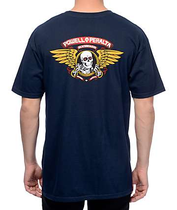 Powell & Peralta Winged Ripper camiseta en azul marino