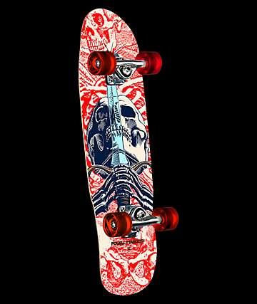 """Powell Mini Skull & Sword 8.0"""" Skateboard Complete"""
