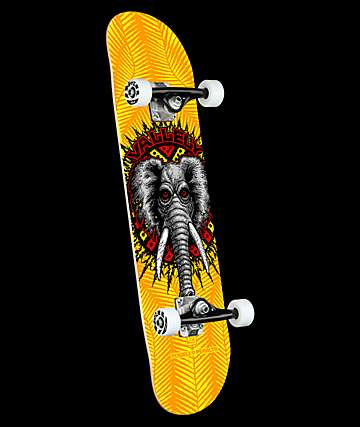"Powell Vallely Elephant Yellow 8.0"" Skateboard Complete"