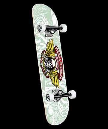 "Powell Winged Ripper White 8.0"" Skateboard Complete"