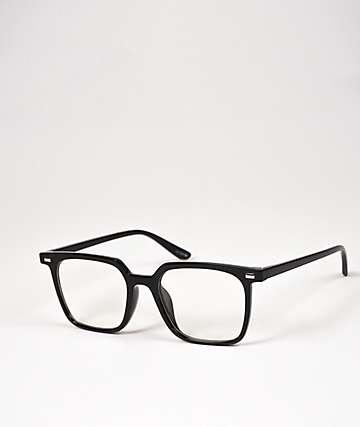 Pretender Black & Clear Square Glasses