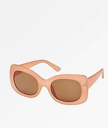 Pretty Fly Jelly Beige & Brown Sunglasses