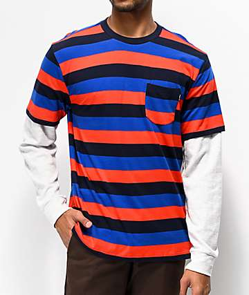 Primitive 2Fer Stripe Red & Blue Shirt
