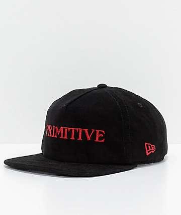 Primitive Black Magic gorra snapback en negro de pana