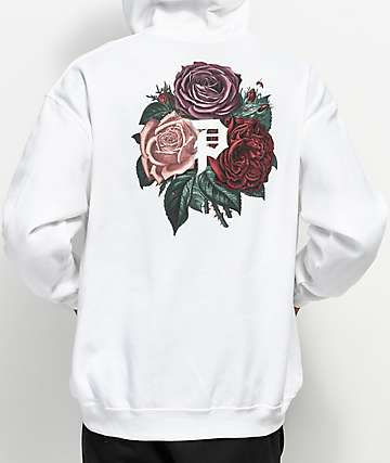 Primitive Bloom White Hoodie