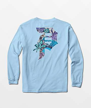 Primitive Botanical Powder Blue Long Sleeve T-Shirt