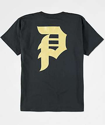 Primitive Boys Dirty P Black & Gold T-Shirt