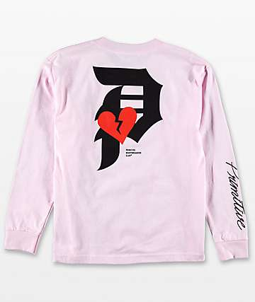 Primitive Boys Heartbreaker Pink Long Sleeve T-Shirt