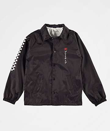 Primitive Boys Samurai Paul Black Coaches Jacket