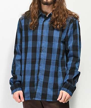 Primitive Buffalo Ikat Indigo Flannel Shirt