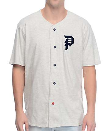 Primitive Champs Ice Heather Grey Baseball Jersey