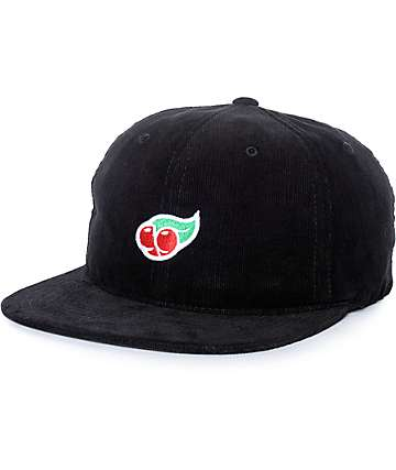 Primitive Cherry Butts Black Cord Snapback Hat