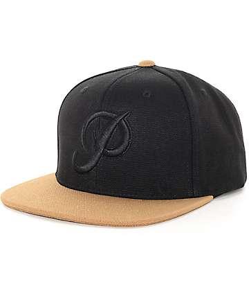 Primitive Classic Black Canvas Snapback Hat