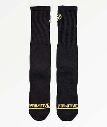 Primitive Classic P Black Skate Socks