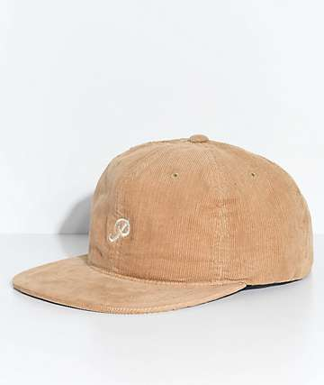 Primitive Classic P Khaki Chord Strapback Hat
