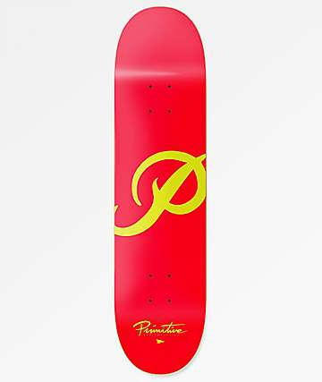 "Primitive Classic P Red 7.8"" Skateboard Deck"