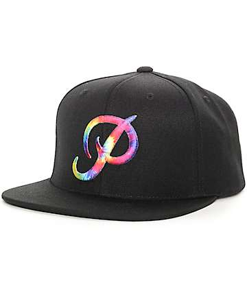 Primitive Classic P Tie Dye Black Snapback Hat