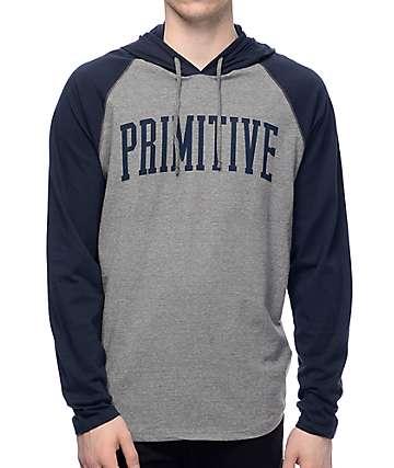 Primitive Collegiate Raglan Navy Pullover Hoodie