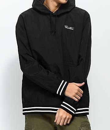 Primitive Creped Black Warm Up Hooded Jacket