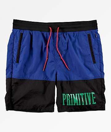 Primitive Croydon Black & Blue Shorts
