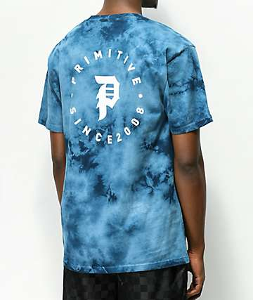 Primitive Dirty Orbit Blue Crystal Wash T-Shirt