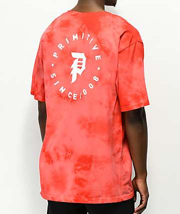 Primitive Dirty Orbit Red Crystal Wash T-Shirt