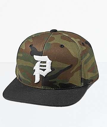 Primitive Dirty P Black & Camo Snapback Hat