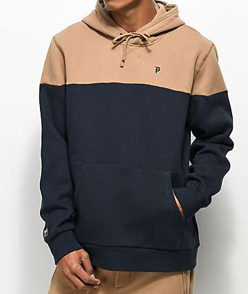 Primitive Dirty P Camel & Navy Blocked Hoodie