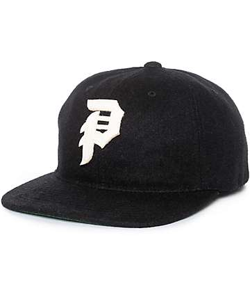 Primitive Dirty P Chain Stitch Black Snapback