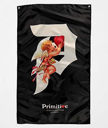 Primitive Dirty P Cupid Black Banner