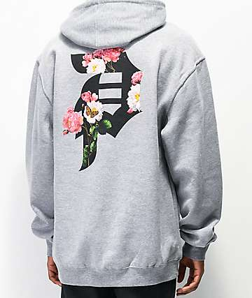 Primitive Dirty P Garden Grey Hoodie