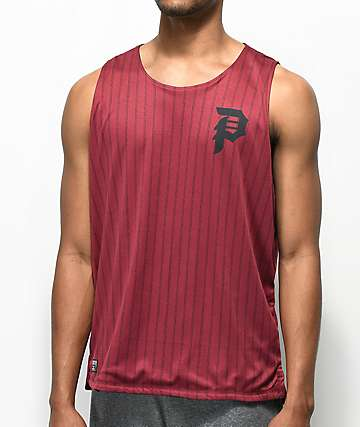 Primitive Dirty P Reversible Red & Black Tank Top