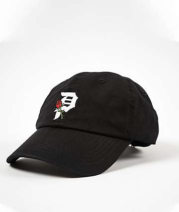 Primitive Dirty P Rosebud Black Strapback Hat