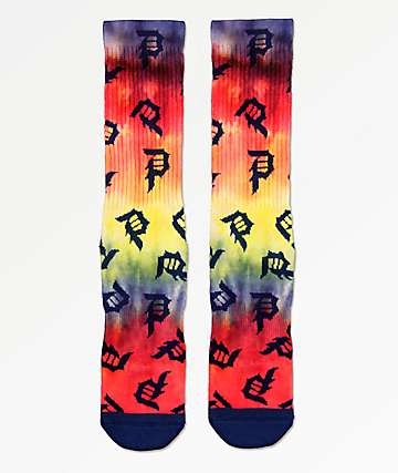 Primitive Dirty P Scatter Crew Socks