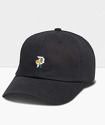 Primitive Dirty P Sunflower Black Strapback Hat