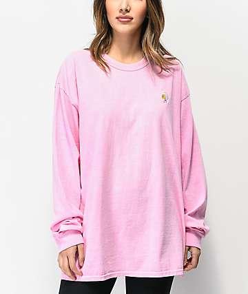 Primitive Dirty P Sunflower Pink Long Sleeve T-Shirt