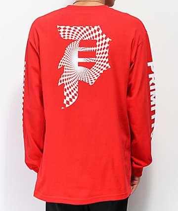 Primitive Dirty P Warp Red Long Sleeve T-Shirt