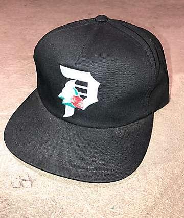 Primitive Dos Flores Black Snapback Hat