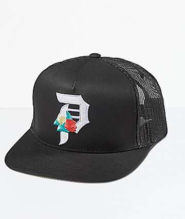 Primitive Dos Flores Black Trucker Hat