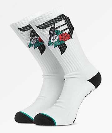 Primitive Dos Flores White Crew Socks