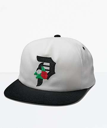 Primitive Dos Flores White Snapback Hat